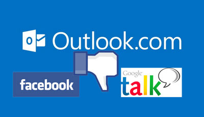 Megszűnik a Google, Facebook chat az Outlook.com-on