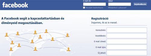 Facebook Bejelentkezések
