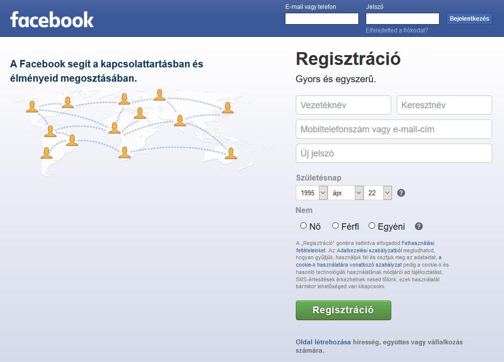Facebook Belepes
