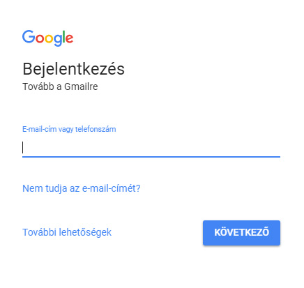 gmail belepes