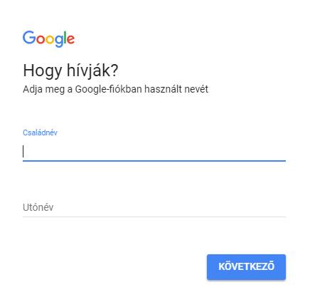 decc2102cd Google felhasználónév segítség