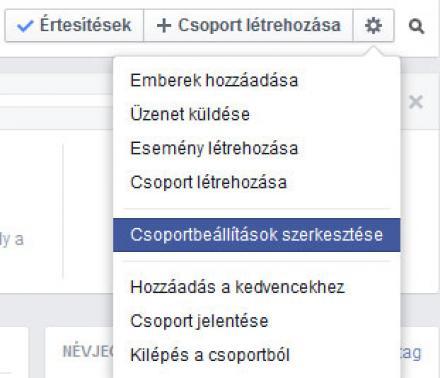 Facebook csoport név változtatás