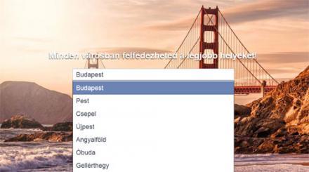 Facebook Helyek