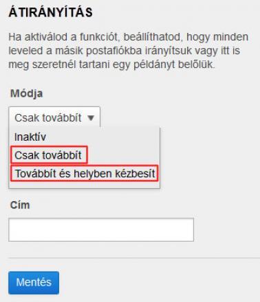 Freemail levelek átirányítása
