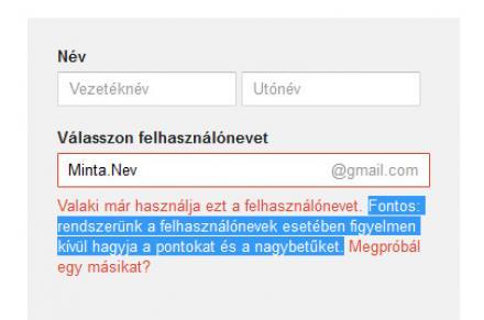 Gmail - Pont használata
