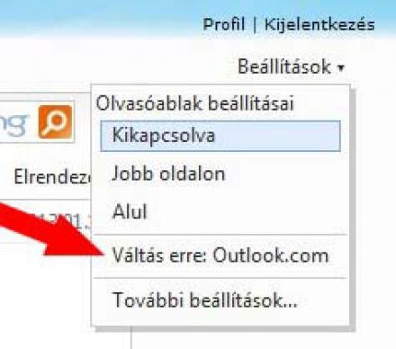 Hotmail fiók váltása az Outlook.com-ra