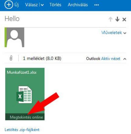 Outlook Office alkalmazás
