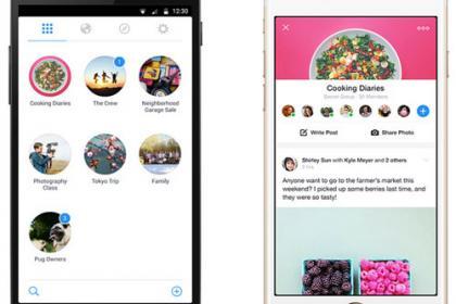 Facebook Groups alkalmazás