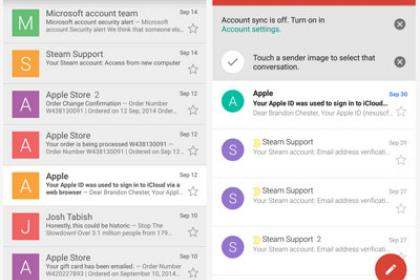 Gmail 5 alkalmazás