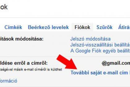 Email álnév beállítás Gmail