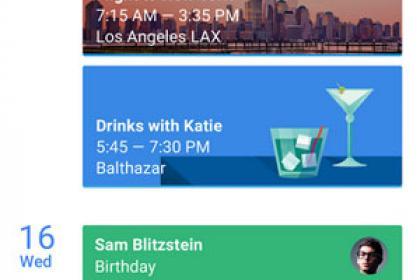 Google Naptár új design