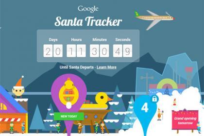Google Santa Tracker visszaszámláló