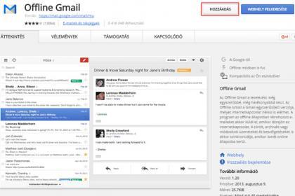 Gmail használata internetkapcsolat nélkül (Offline Gmail)
