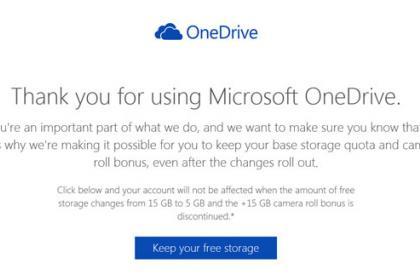 Microsoft OneDrive tárhely megtartása