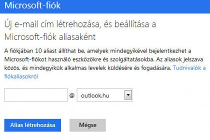 Outlook.hu alias